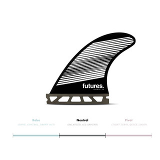 FUTURES Thruster Fin Set F4 Honeycomb Legacy neutr
