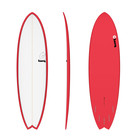 Surfboard TORQ Epoxy TET 6.10 Fish Red Pinline