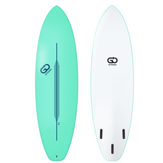 GO Softboard 6.4 Soft Top Surfboard Grün